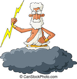 Zeus on a white background, vector illustration