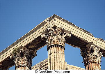 zeus, templo, atenas