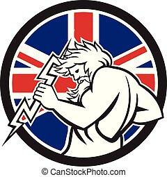zeus-thunderbolt-side_CIRC-UK-FLAG-ICON - Icon retro style...