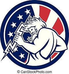 zeus-thunderbolt-side_CIRC-USA-FLAG-ICON - Icon retro style...