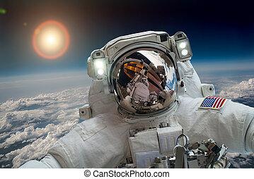 zewnętrzna przestrzeń, astronauta