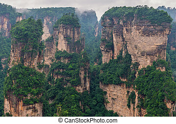 Zhangjiajie National forest park at Wulingyuan Hunan China