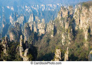 zhangjiajie, nemzeti erdő, kína