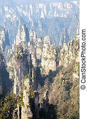 zhangjiajie, nemzeti erdő, liget, kína