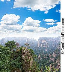 zhangjiajie, un, parque nacional, en, china