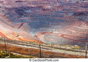 zheleznogorsk., 鉱石, ロシア, 鉄, mining.