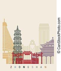 Zhongshan skyline poster
