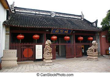 Zhujiajiao water village temple in Shanghai, China.