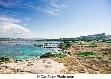 Zia Culumba Beach. Sardinia. Capo Testa. Italy. Top View to ...