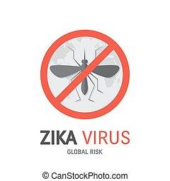 Zica virus poster - Zika virus concept vector with mosquito,...