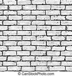 ziegelmauer, seamless, pattern.