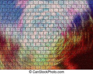 ziegelsteine, gefärbt