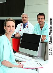 ziekenhuis, team