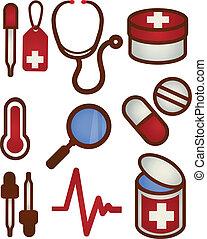 ziekenverzorging, gezondheid, pictogram