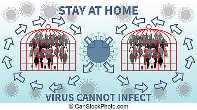 ziekte, uitbarsting, thema, epidemie, viraal, virus