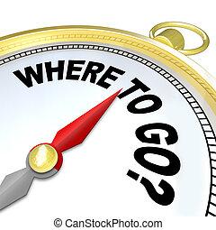 ziel, erfolgreich, leitet, kompaß, gehen, pfad, wohin