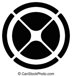ziel, gui, symbol., tabelle, cross-hair, segmentiert, kreis,...