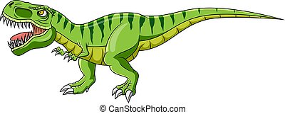 zieleń biała, rysunek, tło, dinozaur
