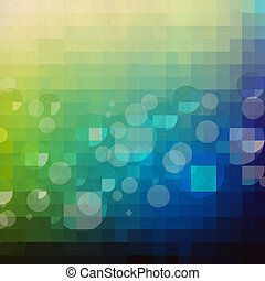 zieleń i błękitna, retro, tło