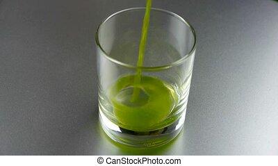 ziele, filiżanka, wheat-juice.