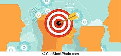 zielen, kunde, kopf, verstand, nische, zielmarkt, marketing, begriff, geschaeftswelt