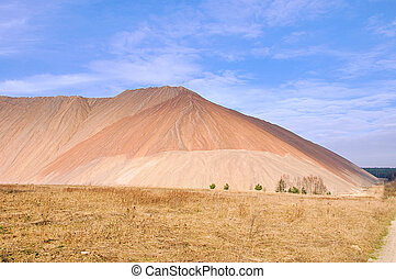 Zielitz potash salt dump