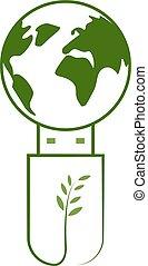zielona kula, technologia, usb