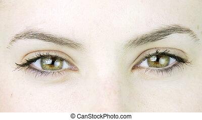 zielone wejrzenie, closeup, ekstremum