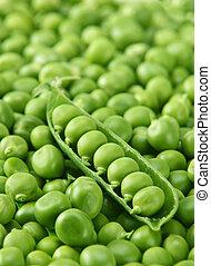 zielone ziarnko grochu, tło