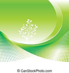 zielony, środowiskowy