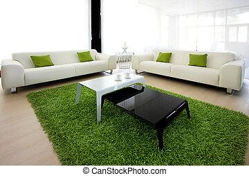 zielony, żyjący