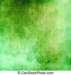 zielony abstrakt, grunge, tło, struktura