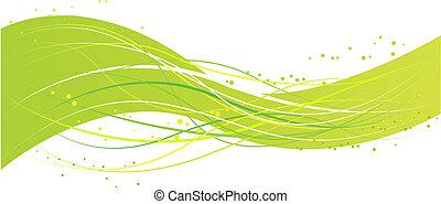 zielony abstrakt, projektować, machać