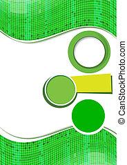 zielony abstrakt, projektować, tło