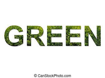 zielony, beletrystyka