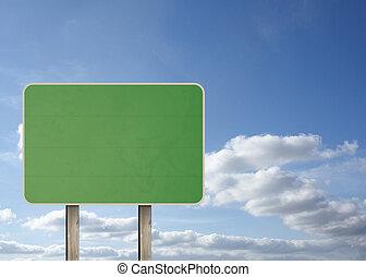 zielony, droga znaczą