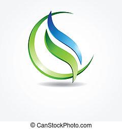 zielony, ekologiczny, chorągiew