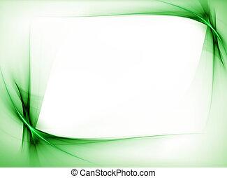 zielony, falisty, brzeg