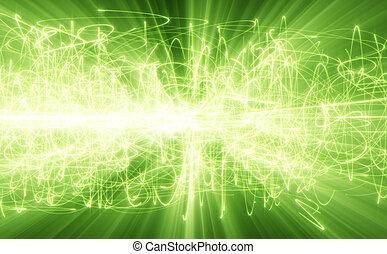 zielony, jarzący się, kwestia, tło