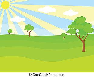 zielony krajobraz