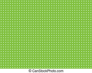 zielony, kropka polki