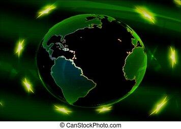 zielony, kula, surrealistyczny