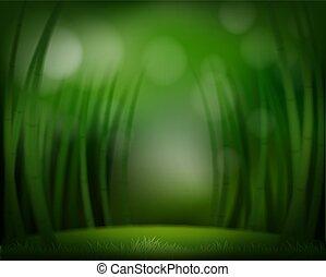 zielony las, szablon