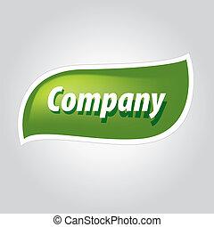 zielony liść, logo