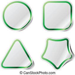 zielony, majchry, frame., czysty