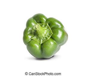 zielony, odizolowany, białe tło, pieprz