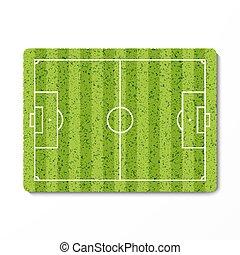 zielony, piłka nożna, trawa pole