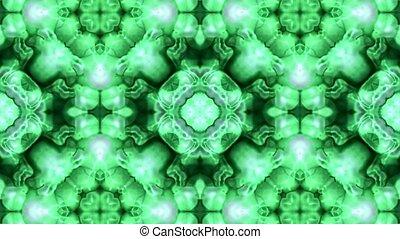 zielony, podniesiony, kwiat, fantazja, próbka