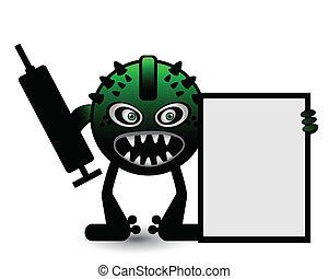 zielony potwór, chorągiew
