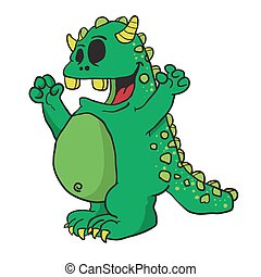 zielony potwór